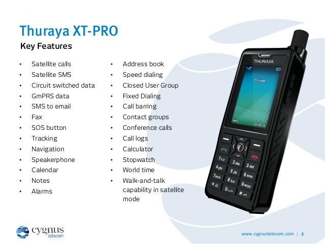Telepon Satelit Thuraya XT Pro